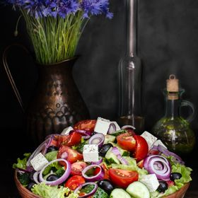 Bowl with Greek Salad, Still life