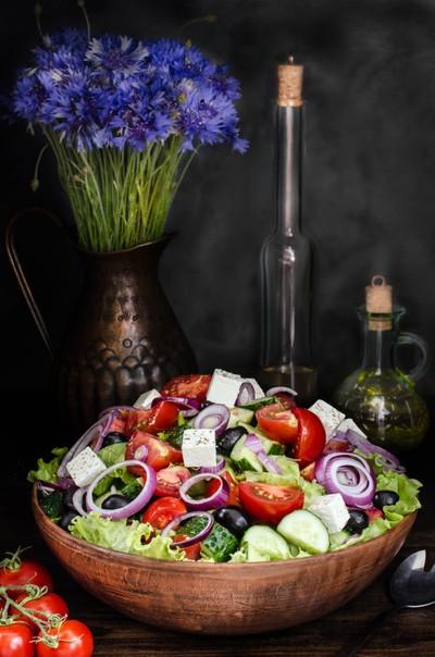 Bowl with Greek Salad, Still life