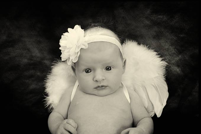 Only five weeks old and she already has her wings.