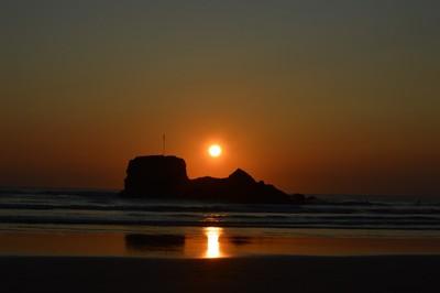 Sunset over Chapel Rock 1