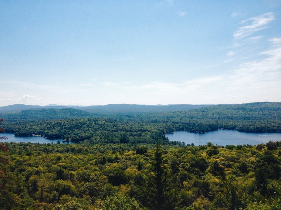 This photo was taken on the top of Bald Mountain in the Adirondack Park Preserve, on a beautiful ...