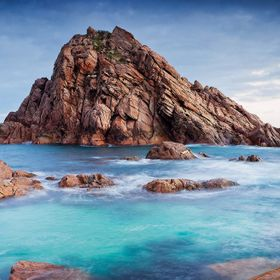An iconic weather sapes rock located on Cape Naturalist, SW Western Australia.