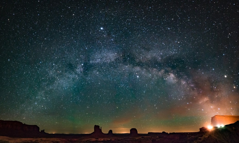 Camping next to Monument Valley, UT was like a dream. Amazing scenery with the backdrop of an ama...