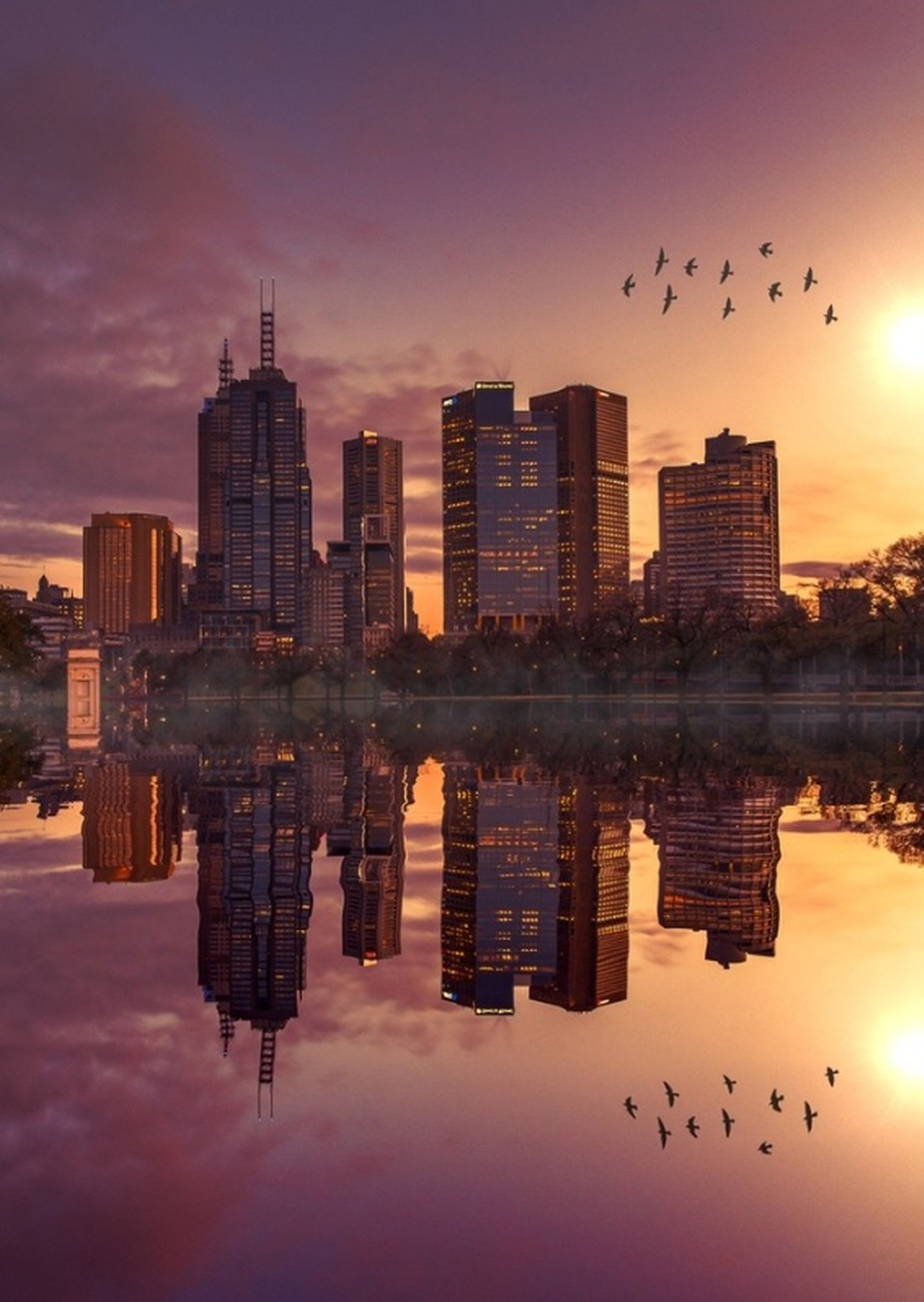 Reflections of Melbourne by JRosewarne - My City Photo Contest