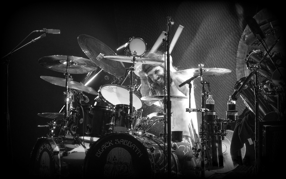 I am really pleased with this shot of Tommy Clufetos playing with Black Sabbath on the 13 tour at...