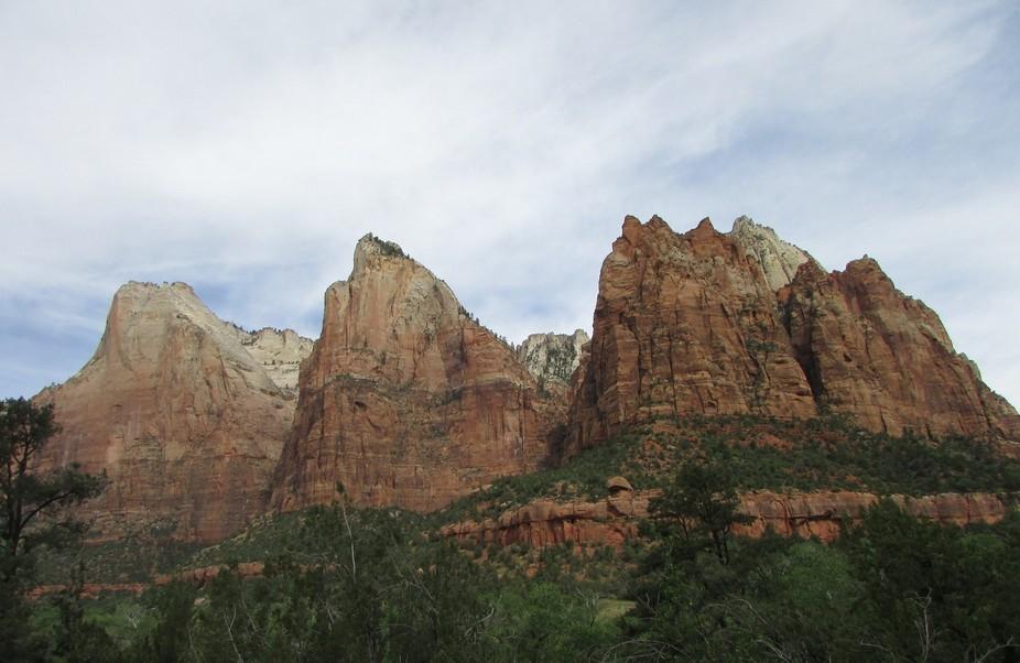 Zion national park the three patriarchs
