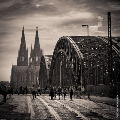 Cologne Kathedral with a vintage look