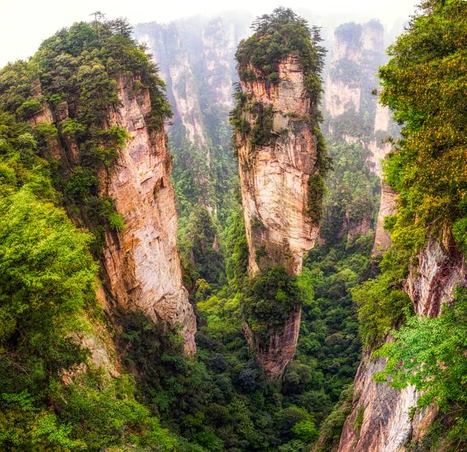 into the peaks of zhangjiajie by aaronchoiphoto - Magnificent Canyons Photo Contest