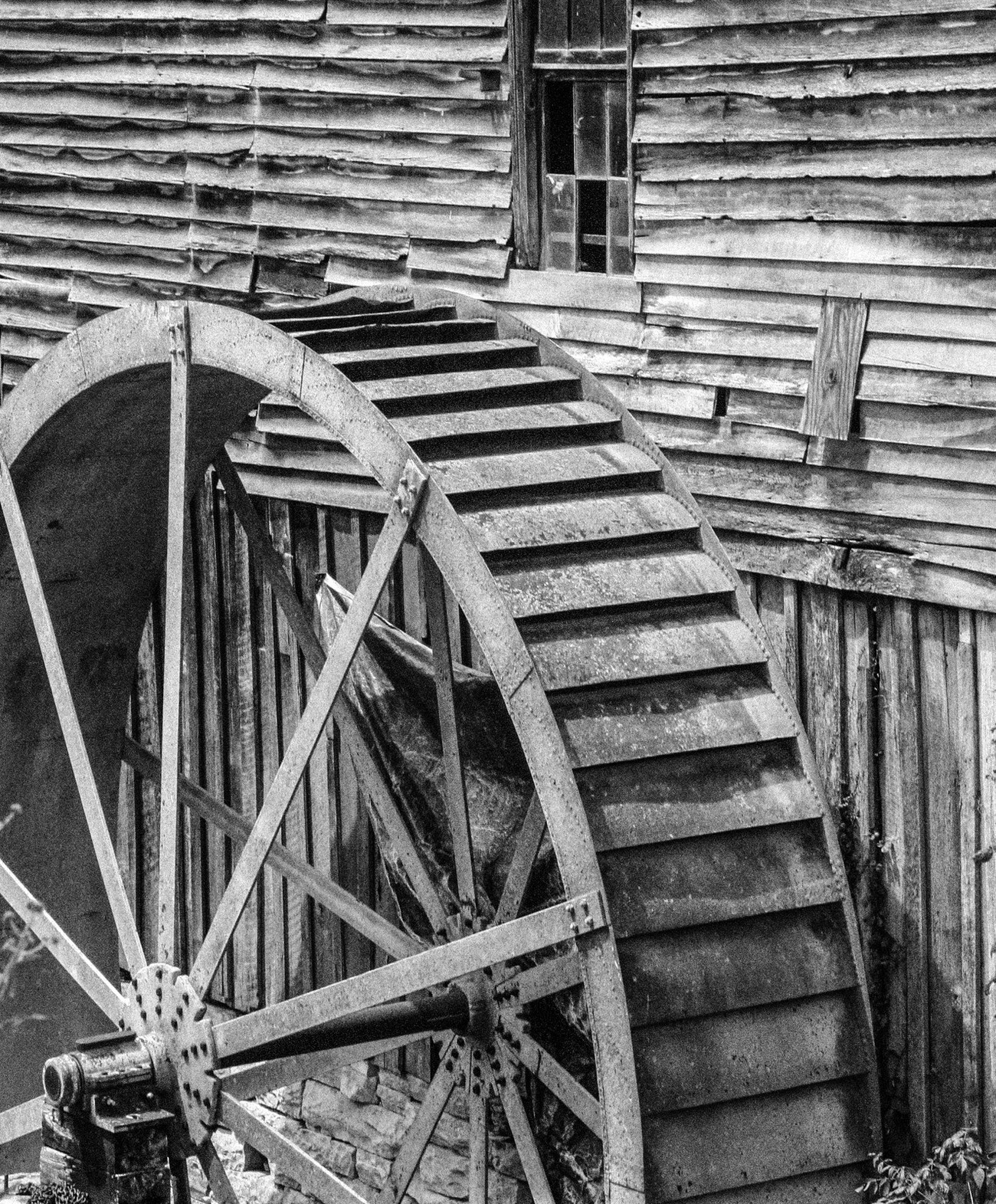 This was corn meal mill near Abington Virginia.  I'm always attracted to an image that shows it's age and will be there forever as a memory of the past.