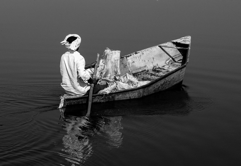 picture of an Indian fisherman