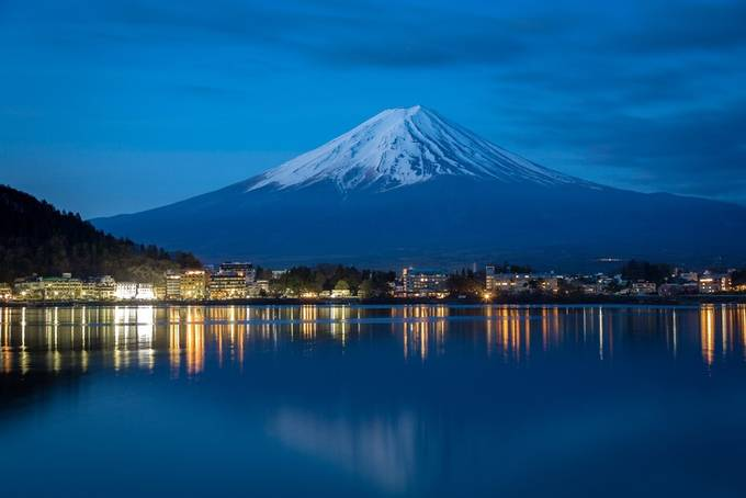 Mount Fuji before sunrise by wojciech_toman - The Blue Hour Photo Contest