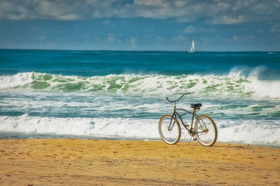 Surfer's Bike on the Beach