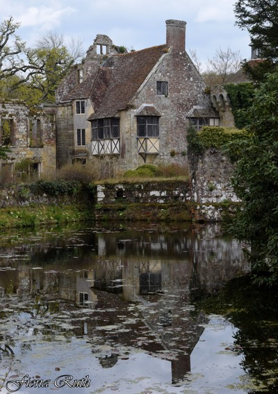 Scotney Castle reflected in the pond