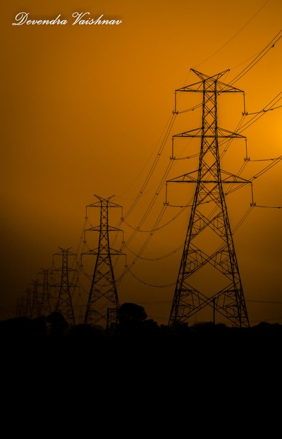 End of Day with wildness of electricity polls