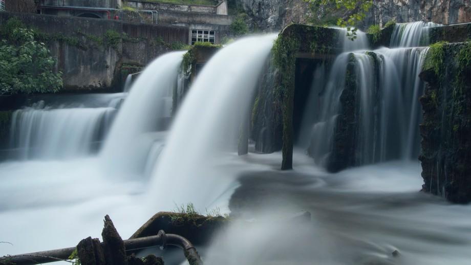 Almonda river spring in Torres novas, Portugal.