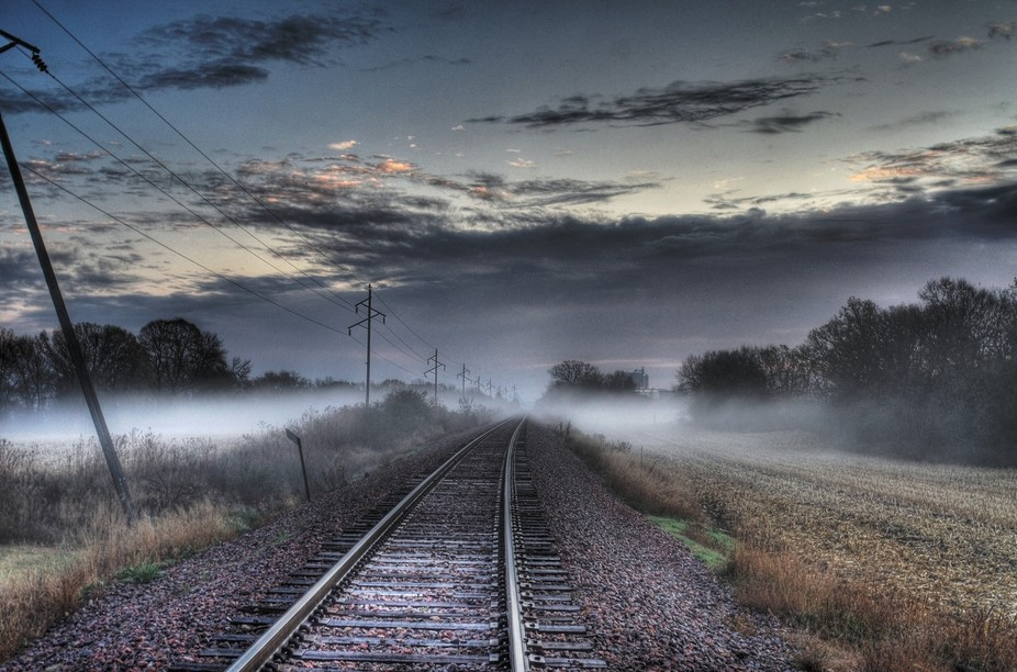 early morning by the rr tracks