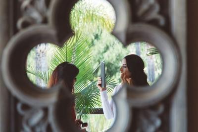 Alex in the mirror