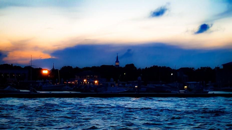 Sunset Charleston Harbor