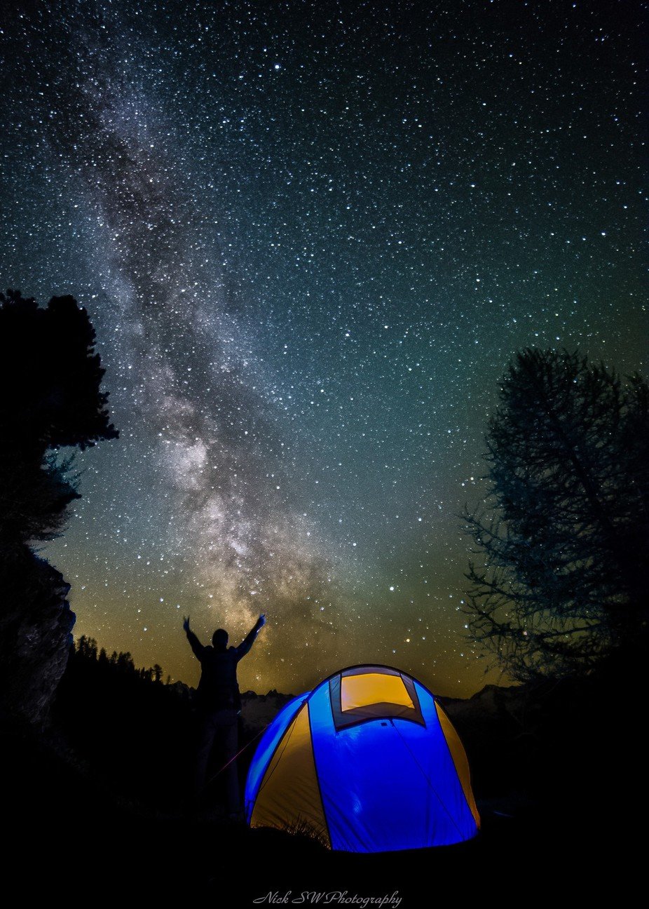 Piora Nightsky by NickSW - Outdoor Camping Photo Contest
