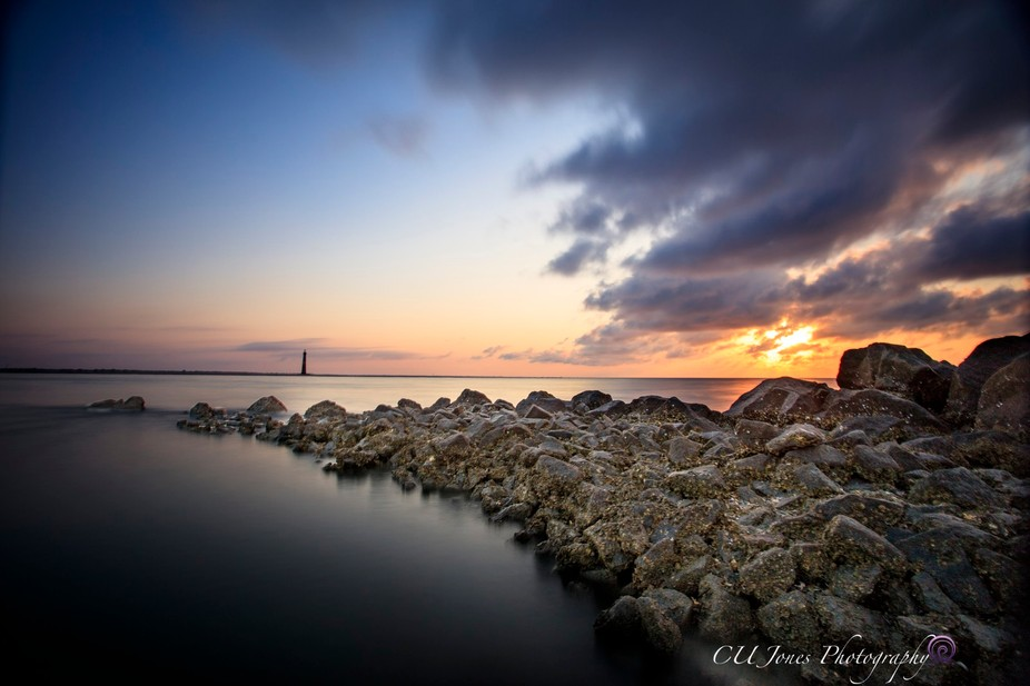 This is Morris Island Lighthouse side of Folly Beach. This is a very peaceful place and at low ti...