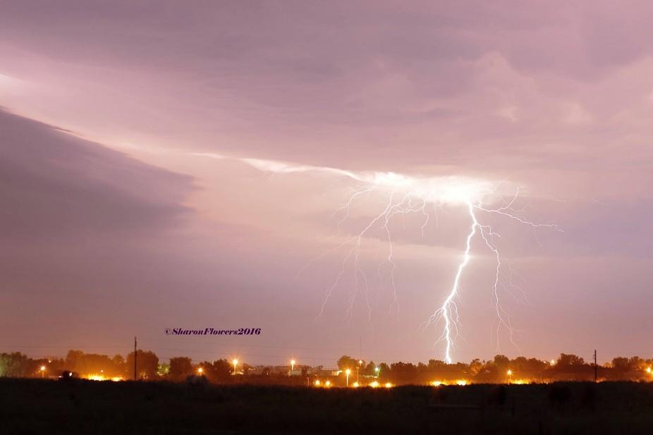 Lightning from recent storms in North Dakota. Taken 6/9/2016