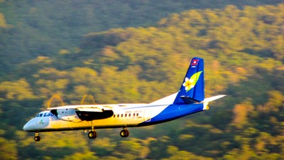 Lao Airlines ATR-72 on Approach to Luang Prabang