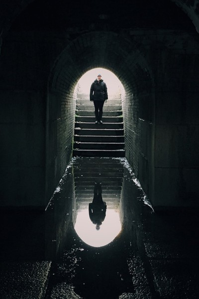 Reflection in a Tunnel