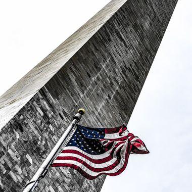 American Flag at the Washington Monmument