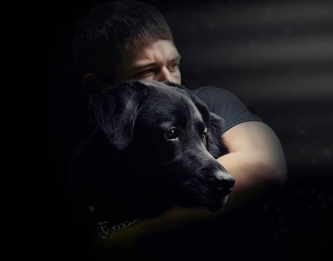 My boy and his dog by patgriffin - Mysterious Shots Photo Contest