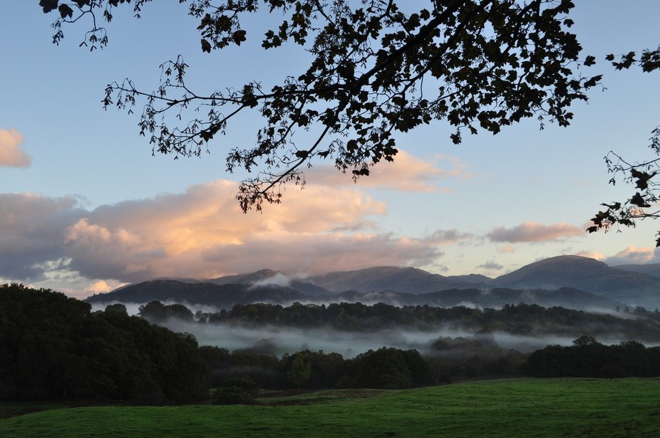 Early morning view of Loughrigg
