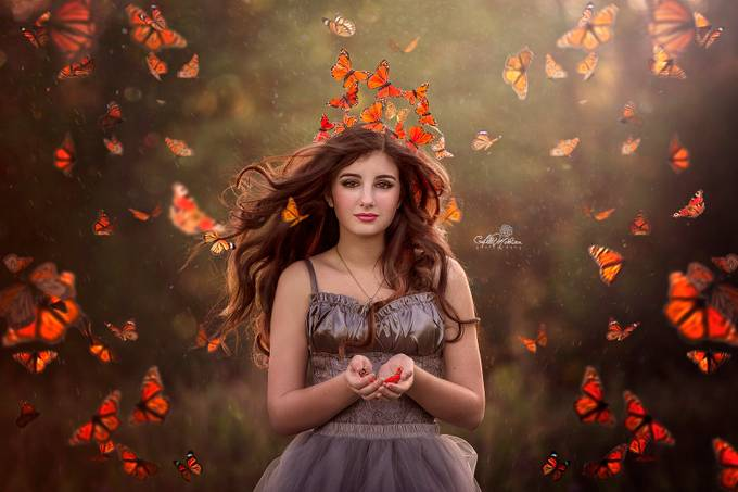 Butterflies by AbbyMathison - Fantasy In Color Photo Contest