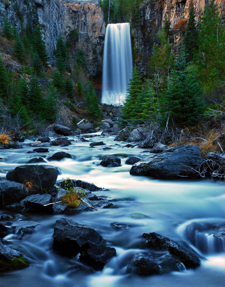 Tumalo Falls at Twilight by marc52ray - Unforgettable Landscapes Photo Contest by Zenfolio