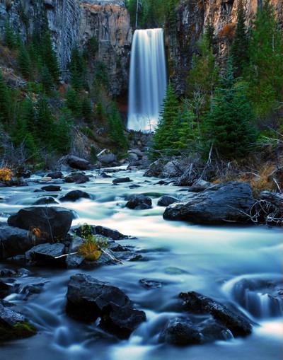 Tumalo Falls at Twilight