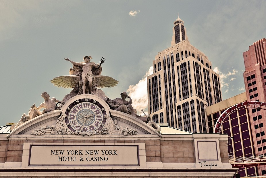 New York New York Hotel and casino in off tones