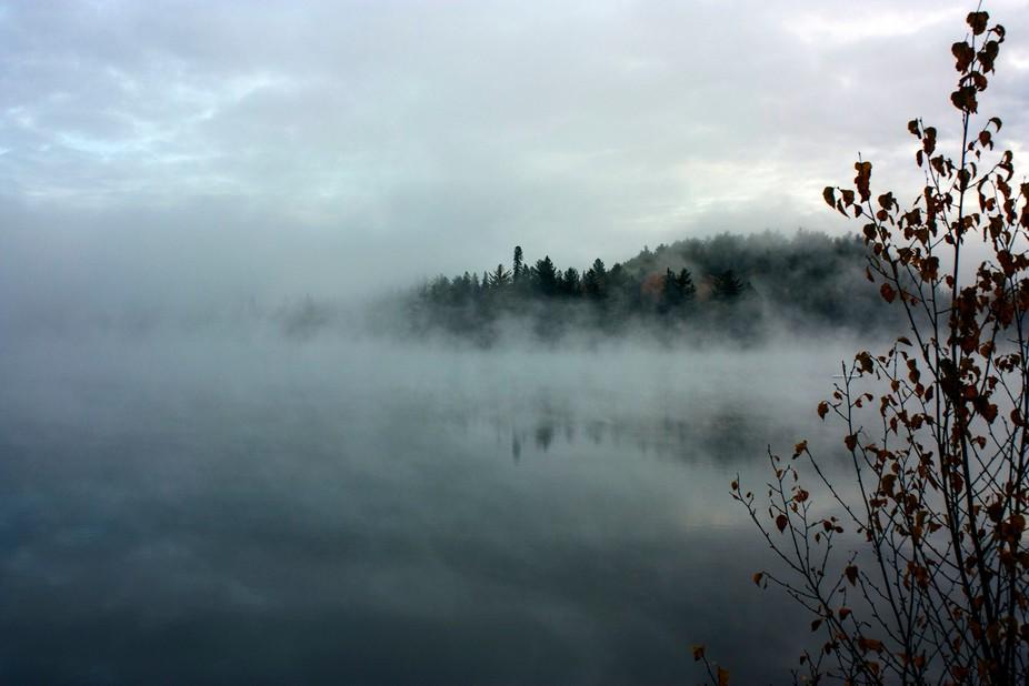 Early October morning on little Joe lake in Algonquin Park