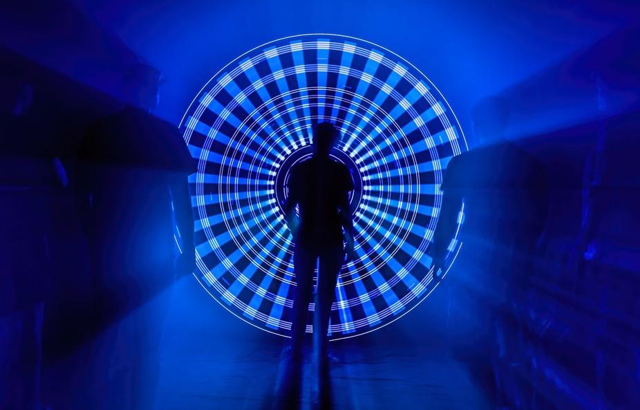Lightpainting Artwork created in total darkness by Aurora Movement   Single exposure Light Art Ph...