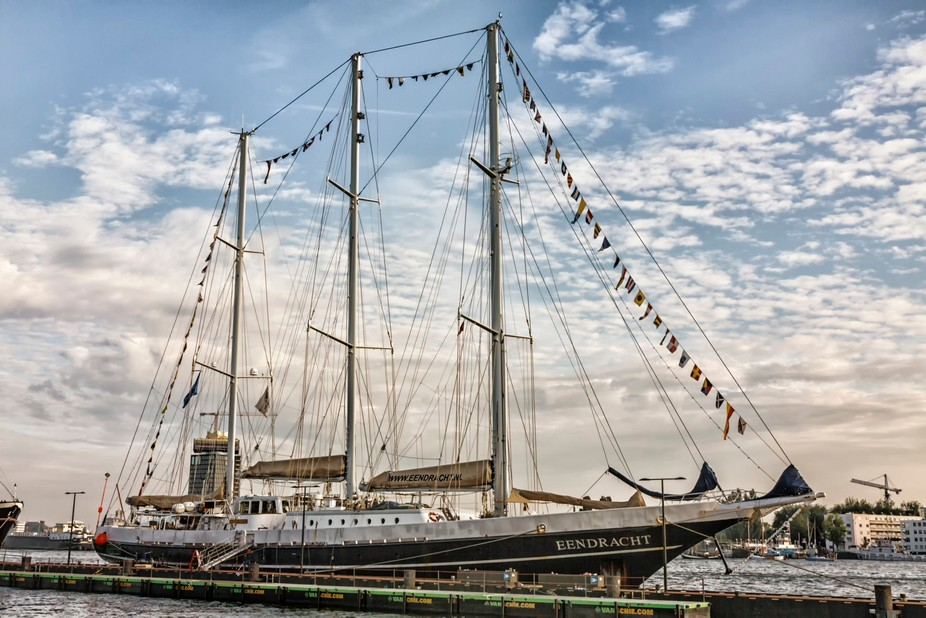Tall ships in Amsterdam.Beautiful sailing ships.