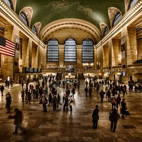 The ancient interior of Grand Central is always a great place to escape the winter snow and do some people watching.