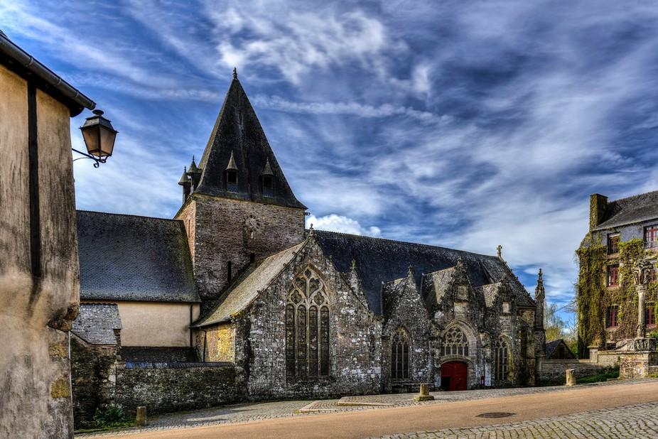 Church in Rochefort en terre, France
