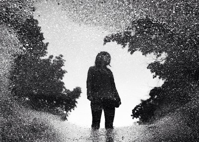 Portrait in a puddle