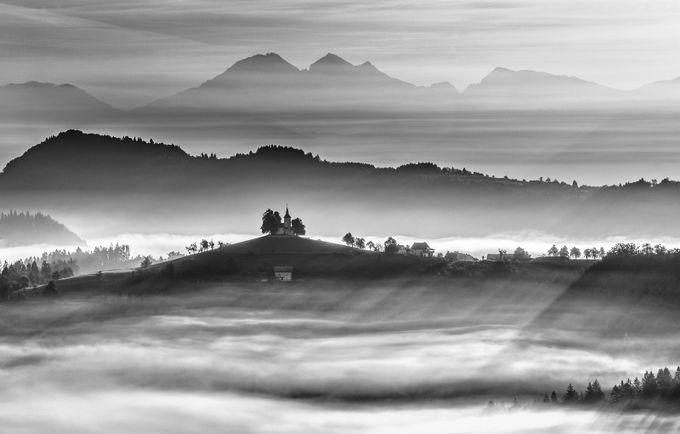 Morning rays by alekrivec - Black And White Compositions Photo Contest vol3