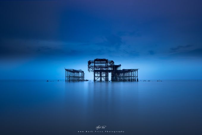 Neon Wreckage by markAPR - A World Of Blue Photo Contest