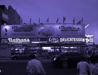 Nathan's Famous at Night