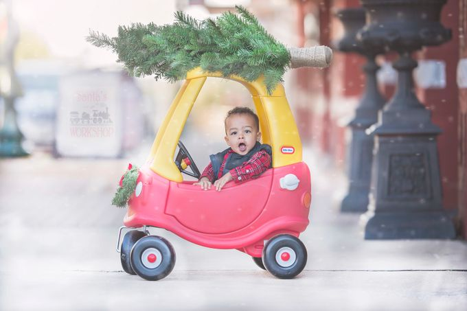 On the way to Santa's workshop by CourtneyBlissett - Kids With Props Photo Contest
