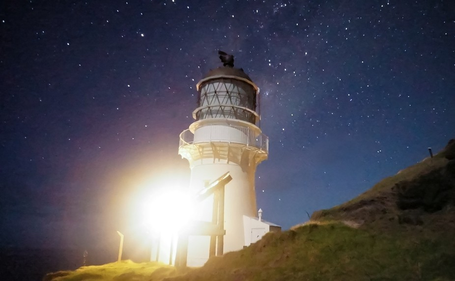 This is Cape Brett lighthouse in the Bay of Islands, NZ.