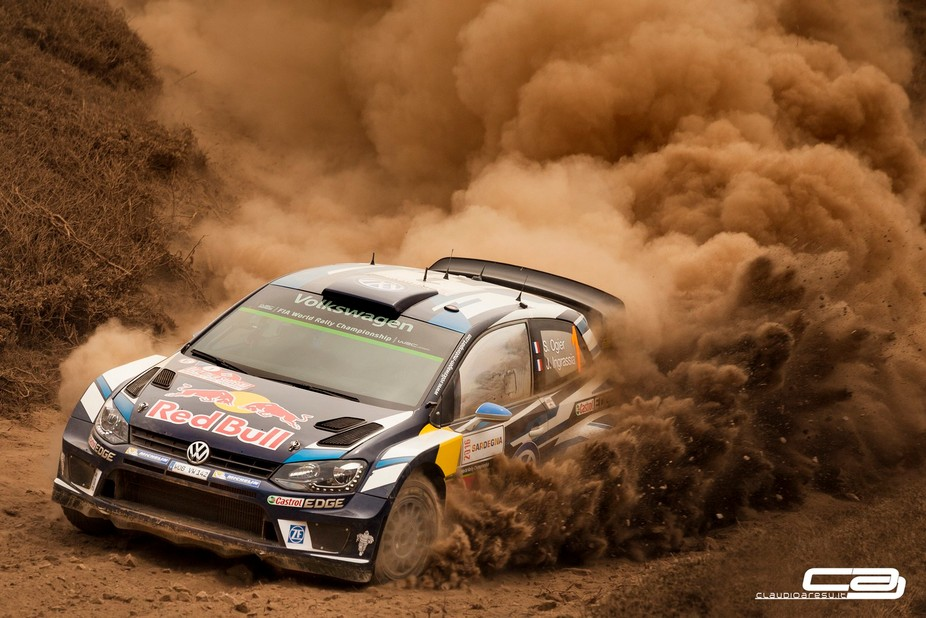 S.Ogier and J.Ingrassia during a Special Stage of Rally Italy Sardinia 2016