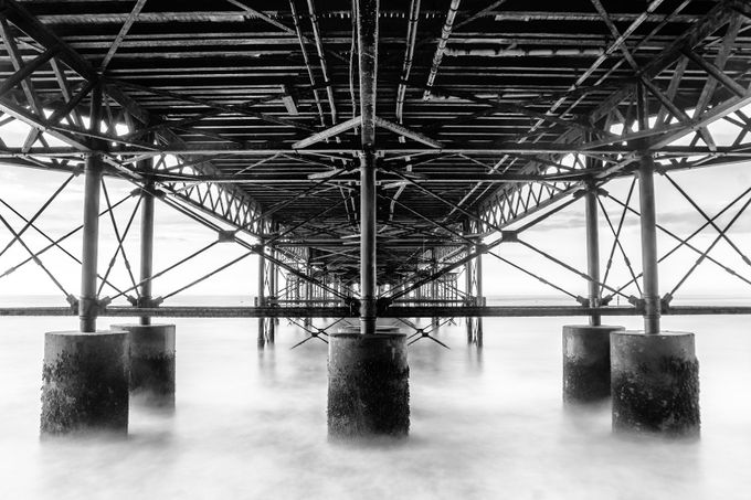 Under the Pier  by stevehardiman - Composing with Diagonals Photo Contest