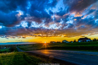 sunset in Cheyenne