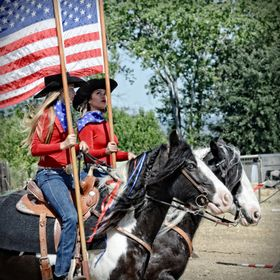 "Our daughter Julienne and her friend Haley participated in a local event ""Fiesta of the Horse"".  They were excited to carry the flag wi..."