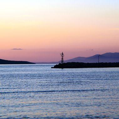 View of the Alykanas Bay Sunset.